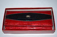 Женский кожаный кошелек Hassion  лаковый