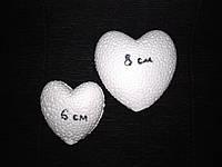 Пенопластовое сердце объемное 8см