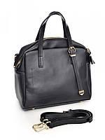 Черная кожаная сумка для женщин