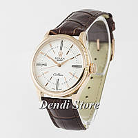 Часы Rolex Cellini Brown/Gold/White AAA