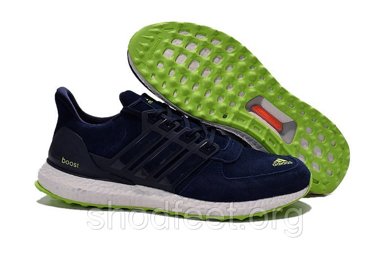 Кроссовки Adidas Ultra Boost Suede Low Men Blue/Green/White
