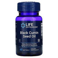 Масло семян чёрного тмина, Life Extension, 60 жевательных капсул, фото 1