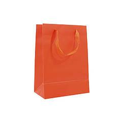 Подарочный пакет PPW PAPER Lesko ZD003-8 Orange Medium