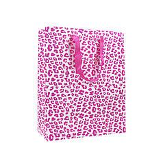 Подарочный пакет PPW PAPER Lesko ZD013 Pink Leopard Big