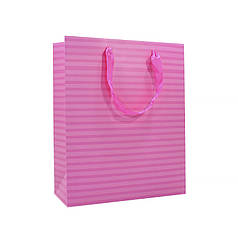 Подарунковий пакет PPW PAPER Lesko ZD013 Pink Stripe Big