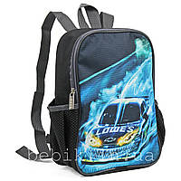 Рюкзак детский с машиной черный 26*19*9 см