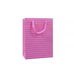 Подарочный пакет PPW PAPER Lesko ZD013 Pink Stripe Medium