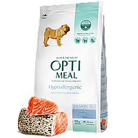 Optimeal гіпоалергенний сухий корм для дорослих собак середніх та великих порід - з лососем 12 кг
