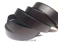 Резинка  взуттєва 25 мм, кол. чорний блиск