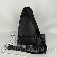 Чоловіча шкіряна нагрудна сумка слінг через плече H. T. Leather, фото 5