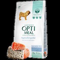 Optimeal гіпоалергенний сухий корм для дорослих собак середніх та великих порід - з лососем 1,5 кг