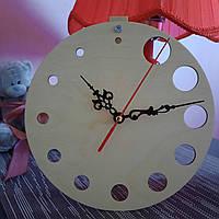 Часы дизайнерские настольные деревянные на 24 часа