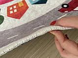 """Безкоштовна доставка! Круглий килим в дитячу """"Дорожні пригоди"""" діаметр 200 см, фото 9"""