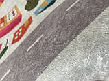 """Безкоштовна доставка! Круглий килим в дитячу """"Дорожні пригоди"""" діаметр 200 см, фото 8"""