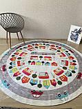 """Безкоштовна доставка! Круглий килим в дитячу """"Дорожні пригоди"""" діаметр 200 см, фото 3"""