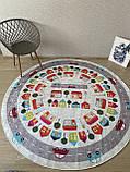 """Безкоштовна доставка! Круглий килим в дитячу """"Дорожні пригоди"""" діаметр 200 см, фото 4"""