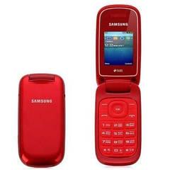 Раскладушка Samsung E1272 Duos Garnet  красная на английском