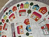"""Безкоштовна доставка! Круглий килим в дитячу """"Дорожні пригоди"""" діаметр 200 см, фото 6"""