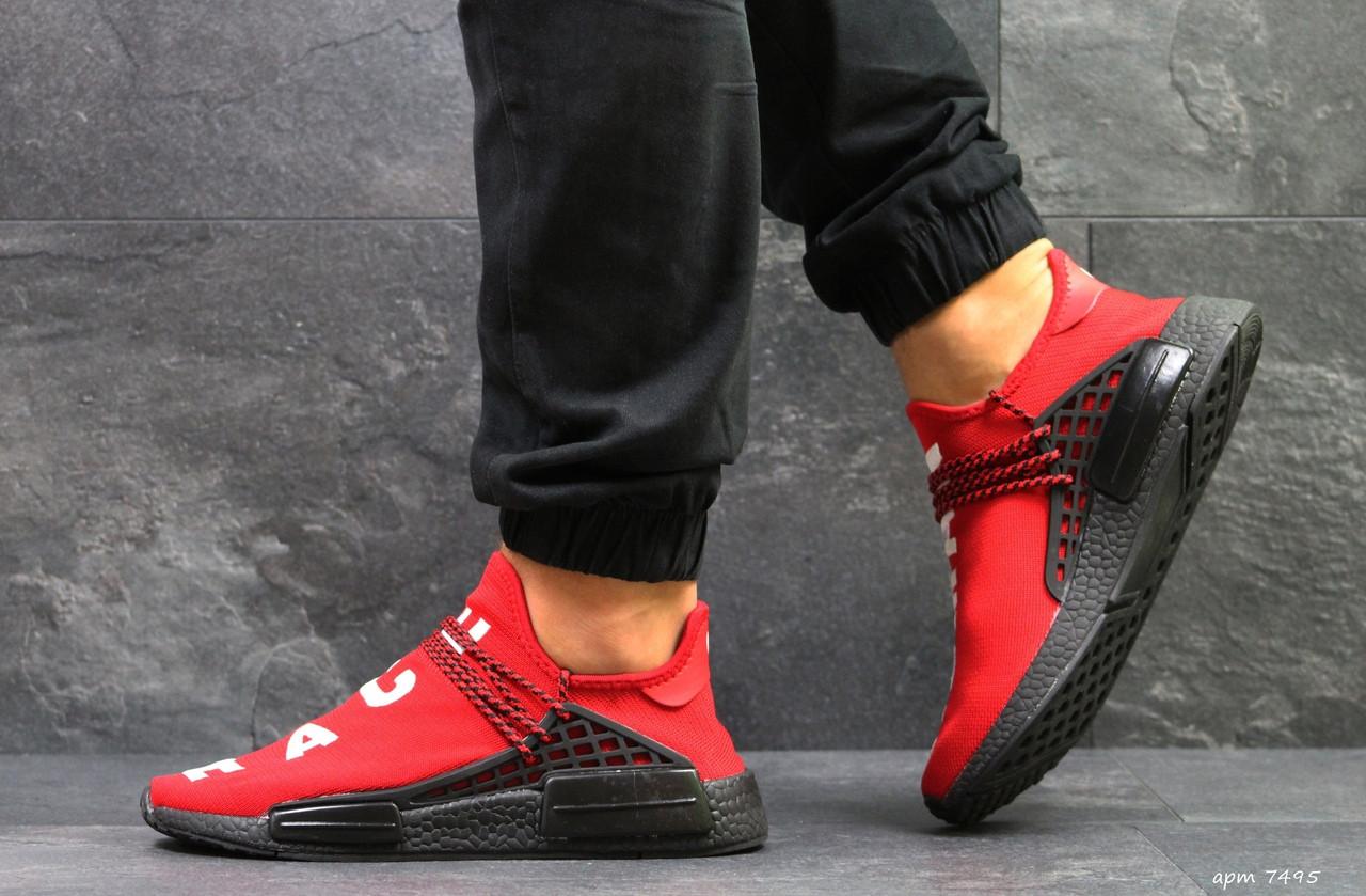 Кроссовки Мужские Adidas NMD Human Race,сетка,красные
