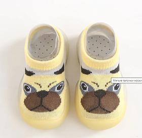 М'які тапочки-шкарпетки на силіконовій підошві для дітей УЦІНКА!!! Довжина устілки 12 см