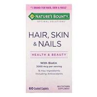 Витаминный комплекс для волос, кожи и ногтей, Nature's Bounty, 60 капсул, покрытых оболочкой