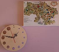 Часы дизайнерские настенные деревянные на 12 часов