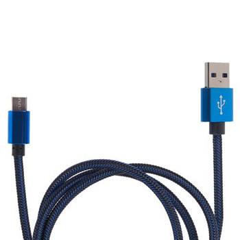 Кабель зарядки USB - Type С (Blue) ((200) Bl)