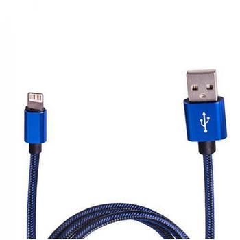 Кабель зарядки USB - Apple Lightning (Blue) ((100) Bl)