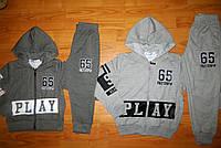 Трикотажный костюм для мальчиков Grace 98,104,110,116  рр.серый, темно-серый