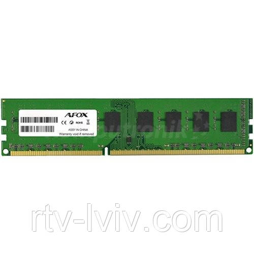 AFOX 2GB [1x2GB 1600MHz DDR3 DIMM]