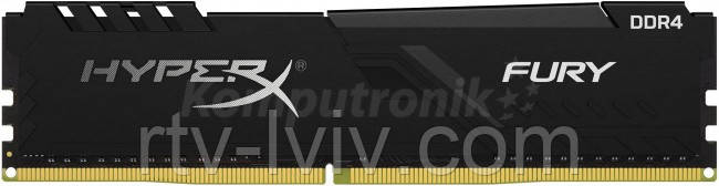 HyperX Fury Black 4GB [1x4GB 3000MHz DDR4 CL15 XMP 1.35V DIMM]