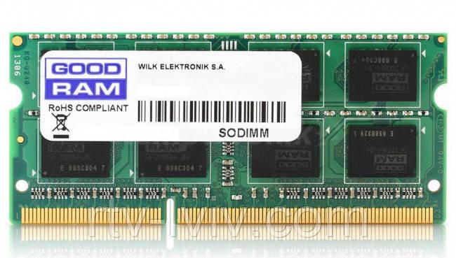 GOODRAM 8GB [1x8GB 1600MHz DDR3 CL11 1.35V SODIMM]