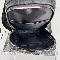 Чоловіча шкіряна містка нагрудна сумка слінг через плече H. T. Leather, фото 10