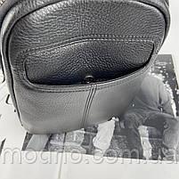 Чоловіча шкіряна містка нагрудна сумка слінг через плече H. T. Leather, фото 8