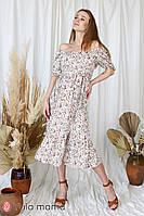 Летнее платье для беременных и кормящих Federica DR-21.134 штапель с принтом, Юла мама
