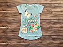 Детская футболка-туника для девочки на 9-13 лет, фото 3