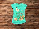 Дитяча футболка-туніка для дівчинки на 9-13 років, фото 4