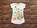 Детская футболка-туника для девочки на 9-13 лет, фото 2