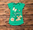 Детская футболка-туника для девочки на 9-13 лет, фото 5