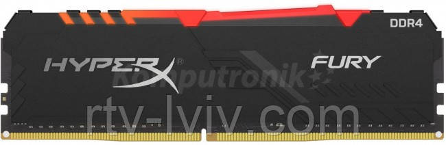 HyperX Fury RGB 16GB [1x16GB 2400MHz DDR4 CL15 DIMM]