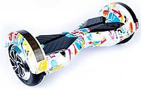 Гироборд, гироскутер 8 дюймов Smart Balance wheel Самобаланс+приложение на смартфон граффити