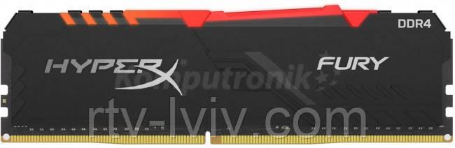 HyperX Fury RGB 16GB [1x16GB 3600MHz DDR4 CL18 DIMM]