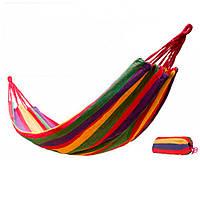 Гамак мексиканский переносной для отдыха 185х150 см, подвесной гамак тканевый садовый и для дачи (TL)