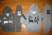 Трикотажный костюм для мальчиков Grace серый, темно-серый 98  рр.