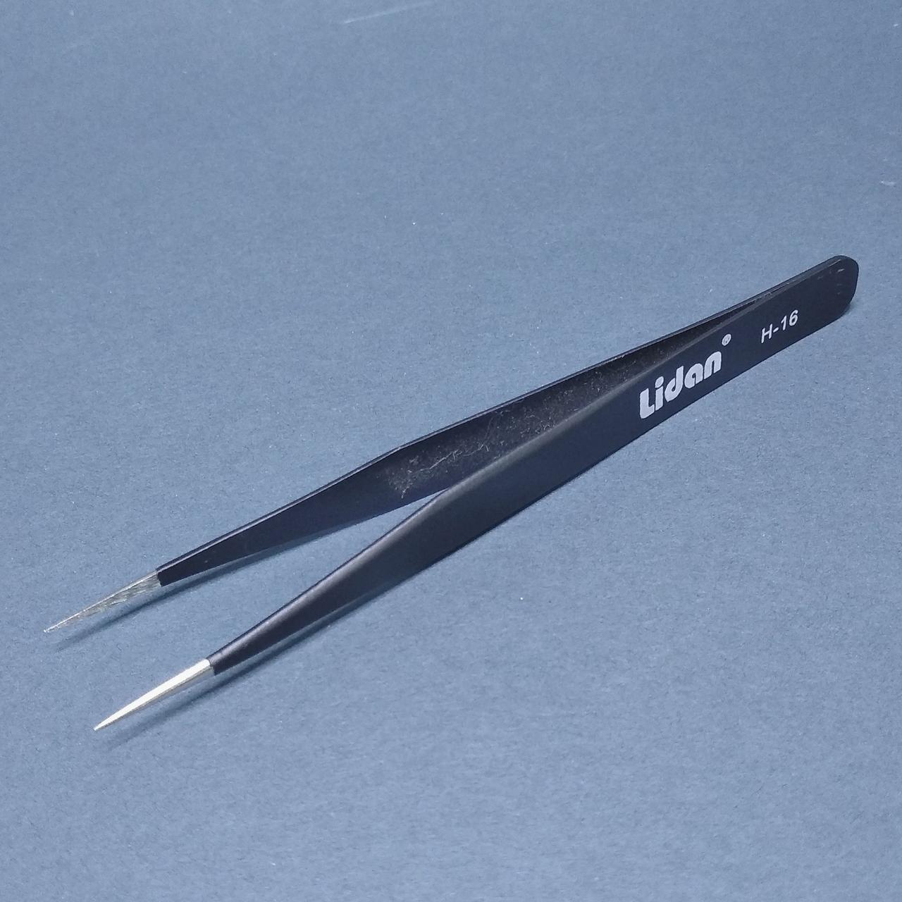 Пінцет для нарощування вій Lidan H-16