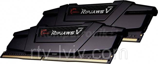 G.SKILL RipjawsV Black 32GB [2x16GB 3600MHz DDR4 CL16 XMP2 DIMM]