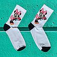 Носки Минни Маус белые размер 40-44, фото 4