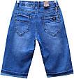 Шорты мужские джинсовые синего цвета пояс резинка, фото 3