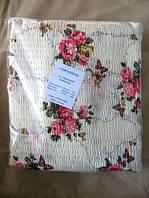 Полуторное постельное белье  жатка Тирасполь с цветами