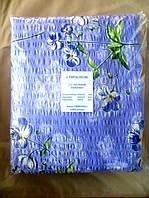 Постельное белье полуторное жатка Тирасполь с синими цветочками